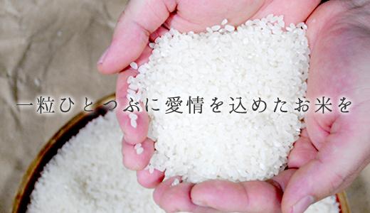 一粒ひとつぶに愛情を込めたお米を